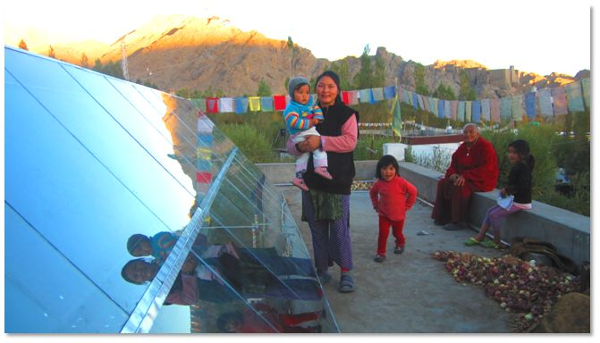 solar space heating Ladakh1